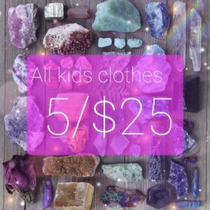 All kids clothes 5 for $25
